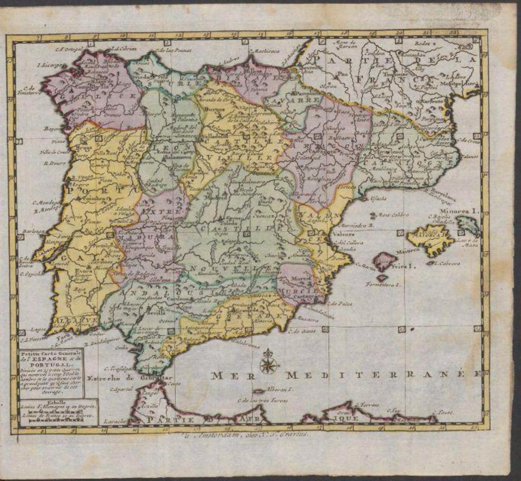 Zak- en reis-atlas van geheel Spanje en Portugal
