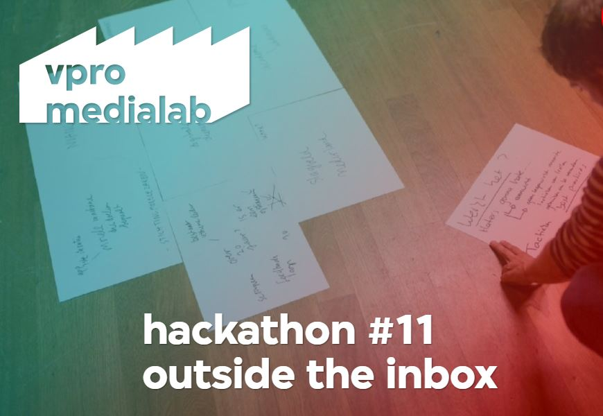 Thinking outside the inbox: de 2021 VPRO Hackathon!